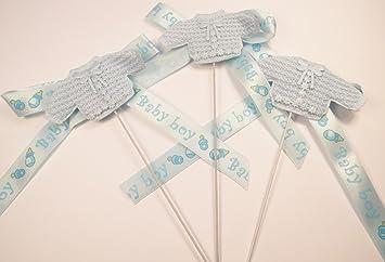 Baby Stecker 3 Stück Blumen Stecker Taufe Babypary Geburt