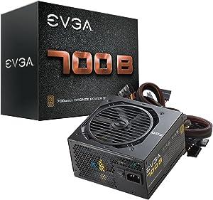 EVGA 700 B1, 80+ BRONZE 700W, 3 Year Warranty, Includes FREE Power On Self Tester Power Supply 100-B1-0700-K1