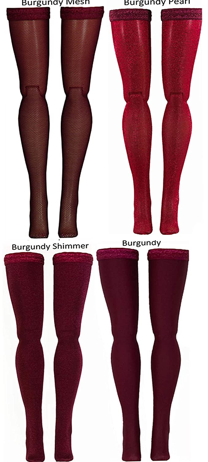 Cissette Lissy etc Burgundy Doll Stockings to fit Madame Alexander dolls such as Cissy