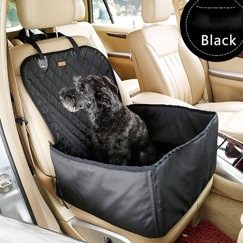 Black Dog Booster seat pet car seat Carrier Predector Portable Collapsible Carrier Belt seat Scratch-Resistant pet car seat Cover, Hammock pet Rear seat Cover Candtong (color   Black)