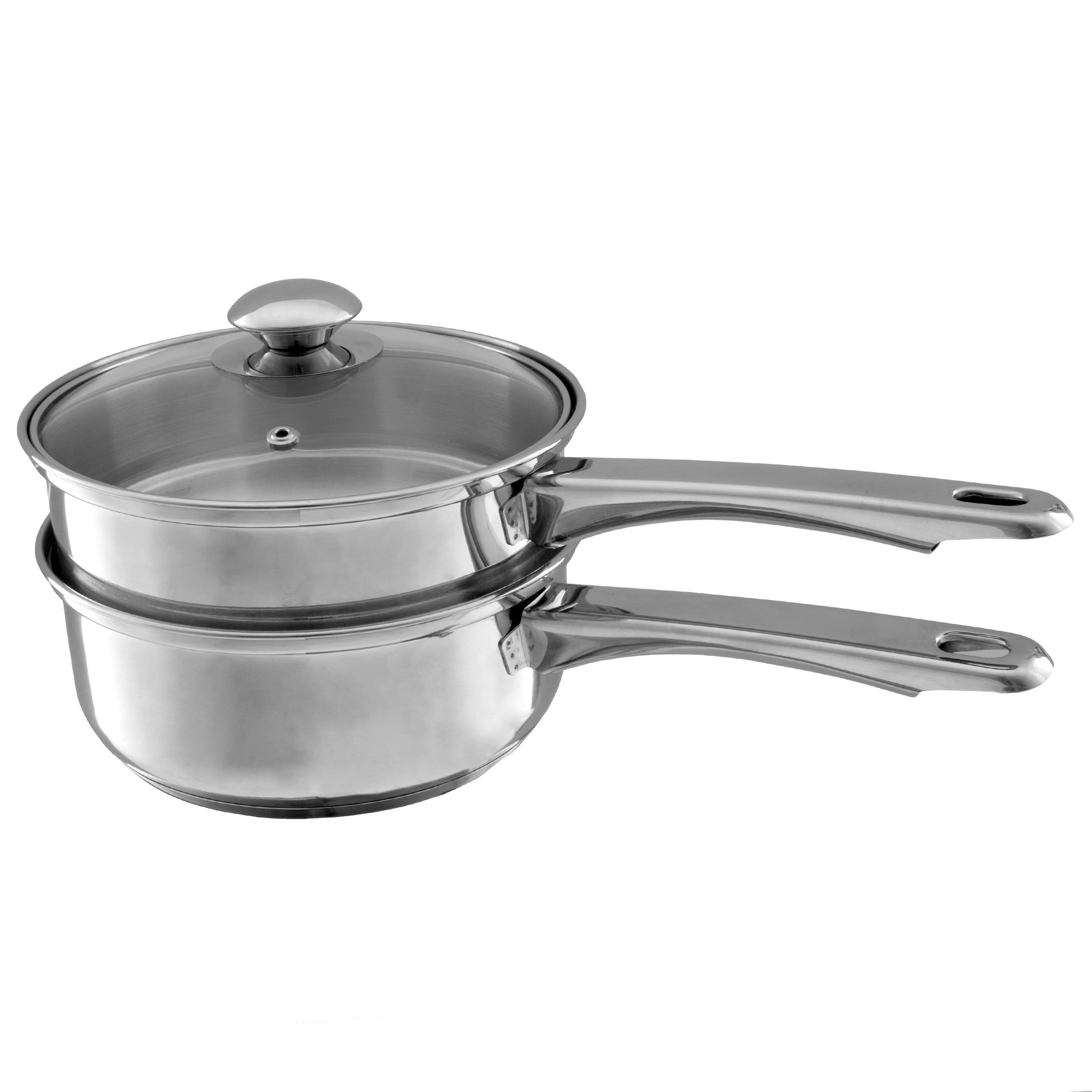 Stainless Steel 6 Cup Double Boiler – 1.5 Quart Saucepan 2-in-1 Combo with Vented Glass Lid- Kitchen Cookware with Measurements by Classic Cuisine by Classic Cuisine (Image #6)