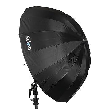 Selens 130cm 16 Varillas Paraguas Profesional Reflectante Parabólico Fotografía Estudio Fotográfico Iluminación, 47cm Profundidad: Amazon.es: Electrónica