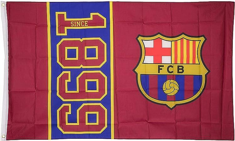 FCB FC Barcelona 1899 - Bandera (100 x 150 cm), Talla única: Amazon.es: Deportes y aire libre