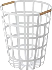 YAMAZAKI home Tosca Round Laundry Basket White,
