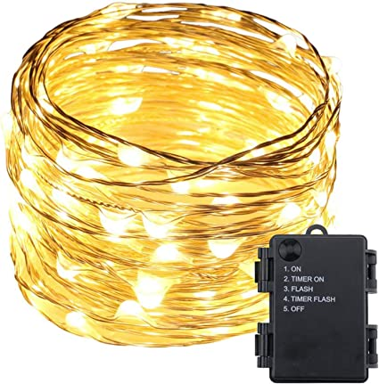 Rechargeable 5//10M Fairy String Lights 50 100 LED Copper Wire Xmas Party Outdoor