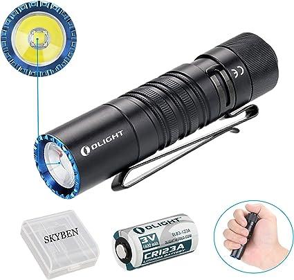 Olight M1T RAIDER 500 Lumen LED Compact EDC w CR123A Battery Tactical Flashlight