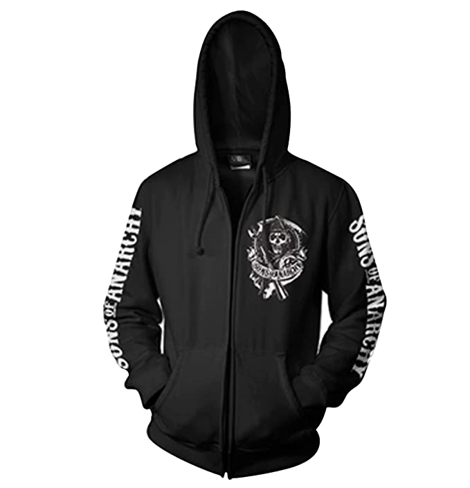 SOA Backpatch Zipped Hoodie