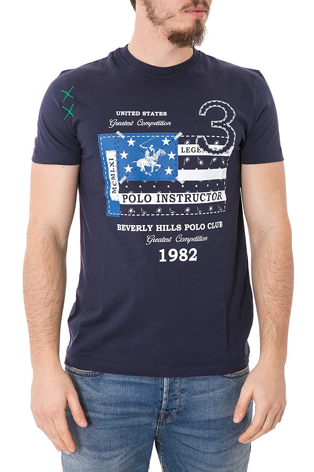 Beverly Hills Polo Club - Hombre Camiseta Regular fit Printed ...