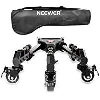 Neewer Photography Professional Heavy Duty Tripod Dolly with Rubber Wheels and Adjustable Leg Mounts for Canon Nikon…