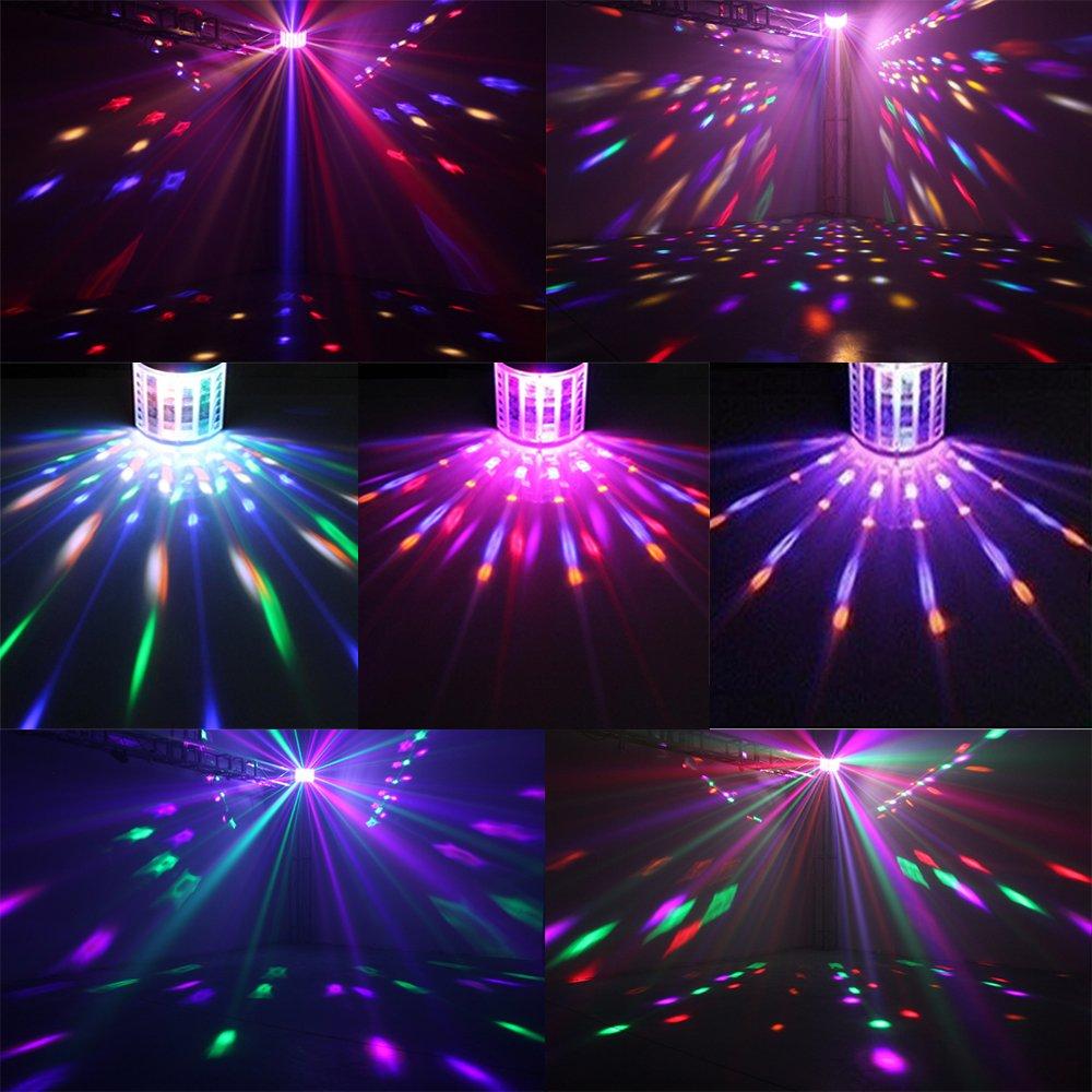 Disco Lights Derby lights TONGK DMX512 RGB LED DJ Party