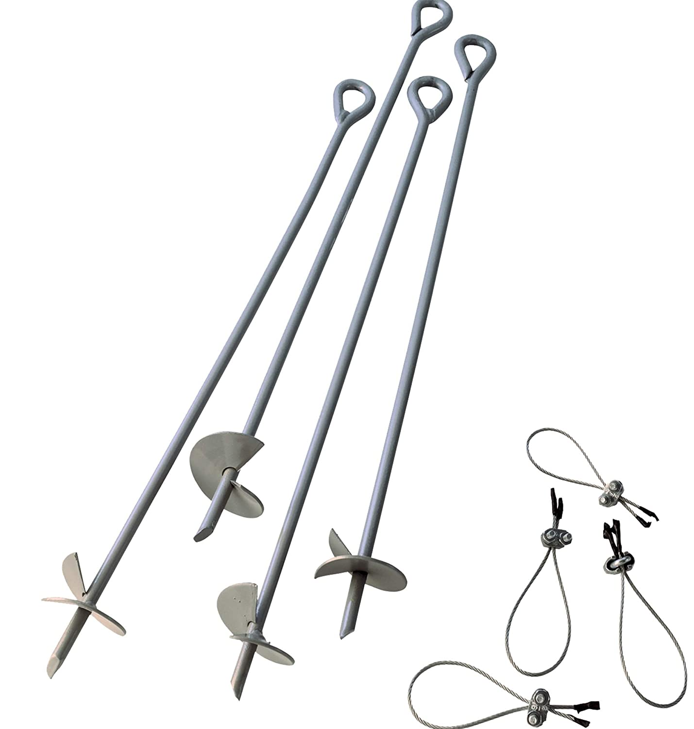 ShelterLogic 4-Piece Auger Anchor Kit, 30-Inch