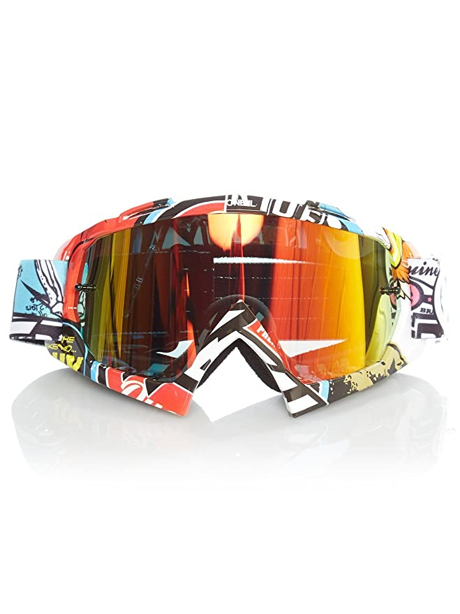 O/'neal B10 Crank Goggle Goggle MX DH Brille schwarz//multi//klar Oneal