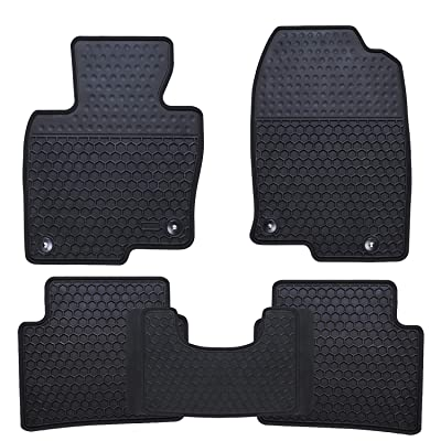 Ucaskin Car Floor Mats Custom Fit for Mazda CX 5 CX-5 SUV 2020 2020 2020 2020Odorless Washable Rubber Foot Carpet Heavy Duty Anti-Slip All Weather Protection Car Floor Liner-Black: Automotive
