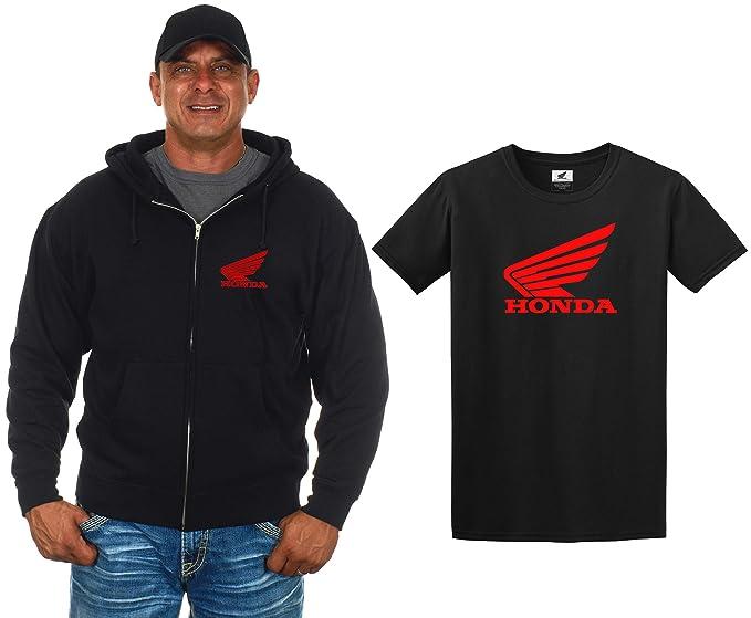 575c78525f6 JH DESIGN GROUP Men s Honda Wing Emblem Zip-Up Hoodie   T-Shirt Combo