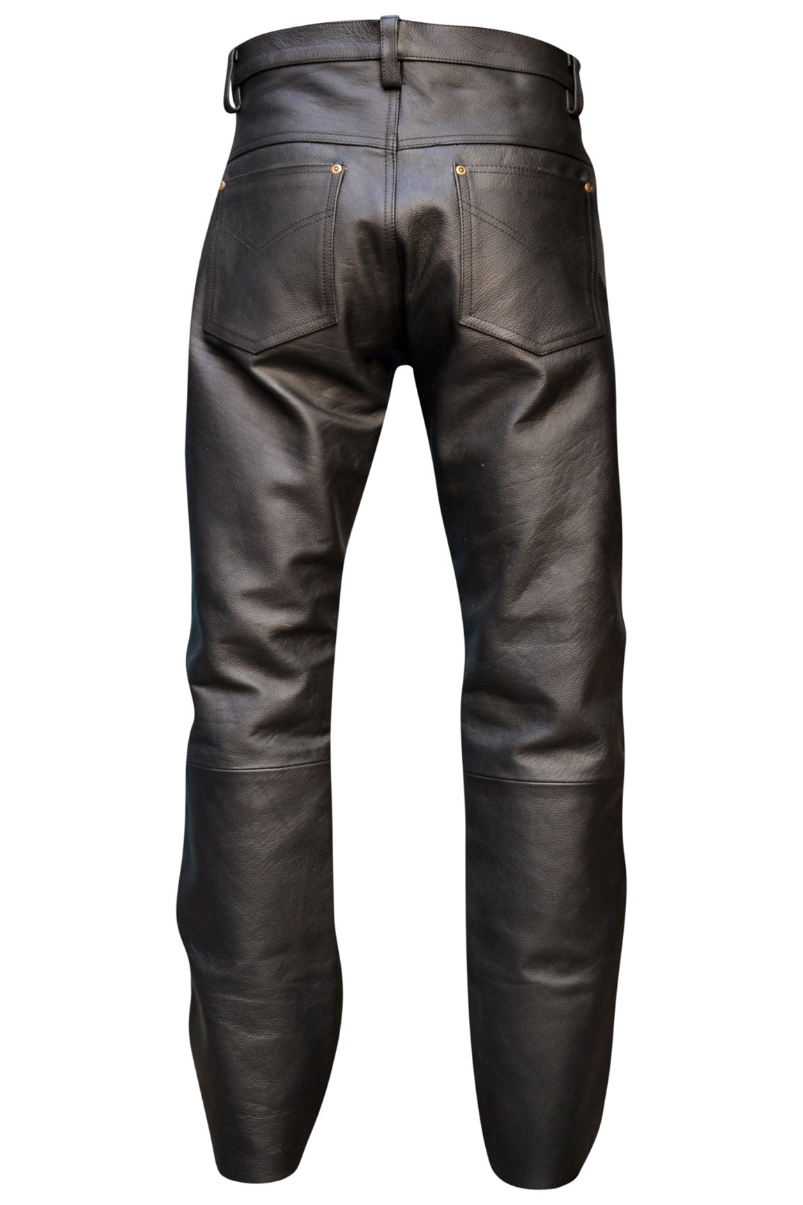 Mens Genuine Leather Pant 5 Pockets Jeans Style Button Fly Model (38 Inch Waist) by Rakson (Image #2)
