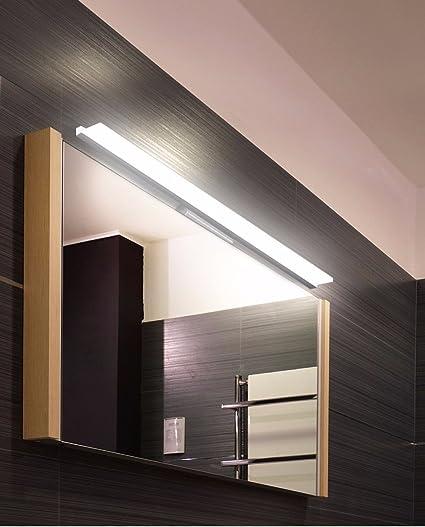 BoYX Acryl Spiegelleuchte 40Cm ~ 120Cm Moderne Kosmetische Acryl Wandleuchte Bad Beleuchtung Wasserdicht 85 ~ 265V,60Cm Kaltwei/ß