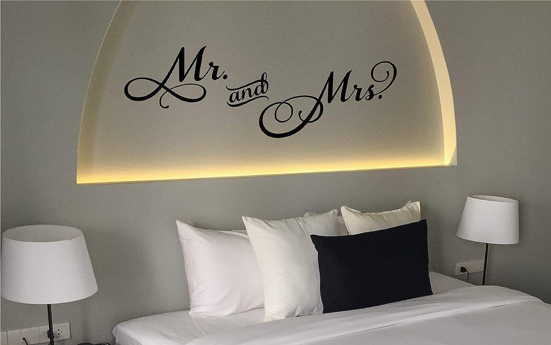 Spruch f Gr/ö/ßen.- und Farbauswahl *NEU* Wandaufkleber//Wandtattoo//Wandsticker Schlafzimmer ***Mr and Mrs.***