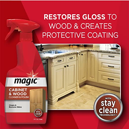 Charmant Amazon.com: Magic Wood Cleaner And Polish   14 Fluid Ounce   Furniture  Table Chairs Wood Cabinets Clean And Restore Shine: Health U0026 Personal Care