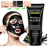 2018 Deep Cleansing Purifying Blackheads and Acne Peel-off Mask Black Mud Face Mask 50g by TOPUNDER