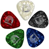 Planet Waves Assorted Pearl Celluloid Guitar Picks, 25 pack, Medium