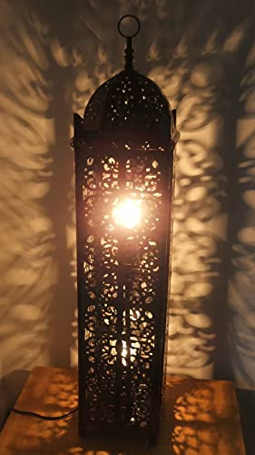 Stunning Moroccan Style Cutwork Antique Style Floor Lamp Brand New In Box
