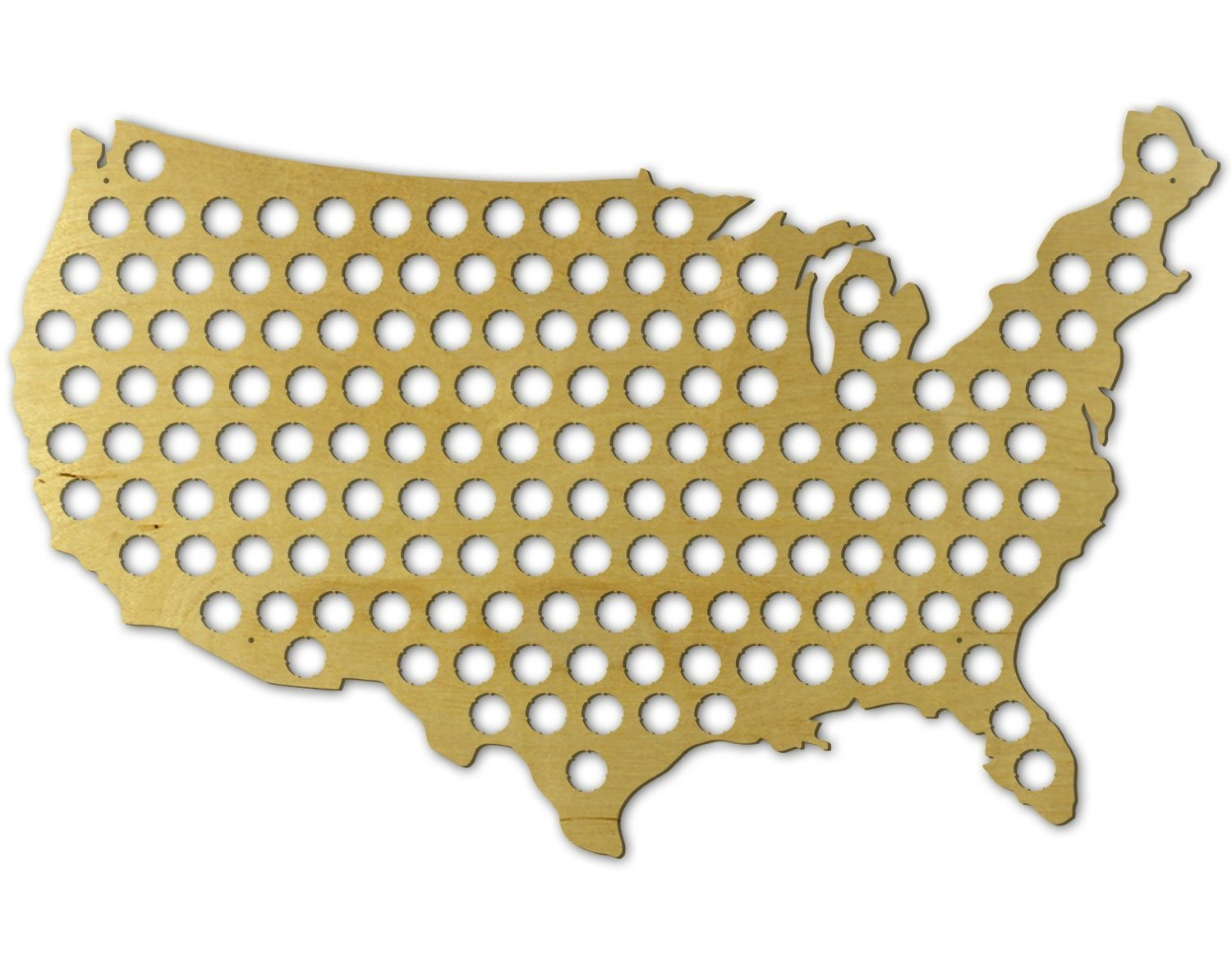 Amazoncom Beer Cap Trap - Us beer map wall art