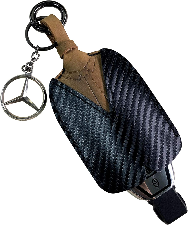 MURADIN Car Key Chain Ring leather Keychain Clip Handmade EDC Metal Organizer Carabiner for Car Key Fob