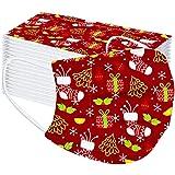 Gleamfut 50pcs Face Soft Cover Balaclavas Kids/Adult Bandana Mouth Scarf Christmas Cuted Print Scarf Mdsk US Fast…