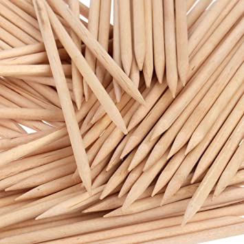 Amazon Orange Wood Sticks Nail Art Cuticle Pusher Remover
