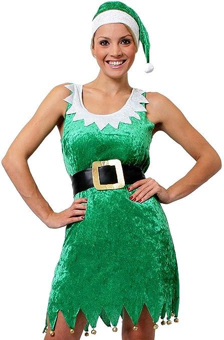 ILOVEFANCYDRESS Disfraz DE Elfo Sexy para Mujer Conjunto TEMATICO ...