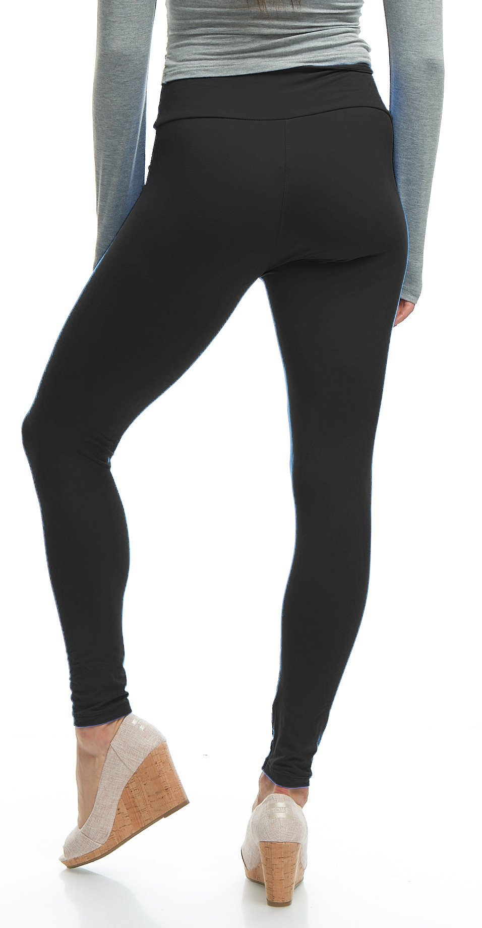 LMB Yoga Leggings Buttery Soft Material - Variety of Colors - Black by LMB (Image #8)