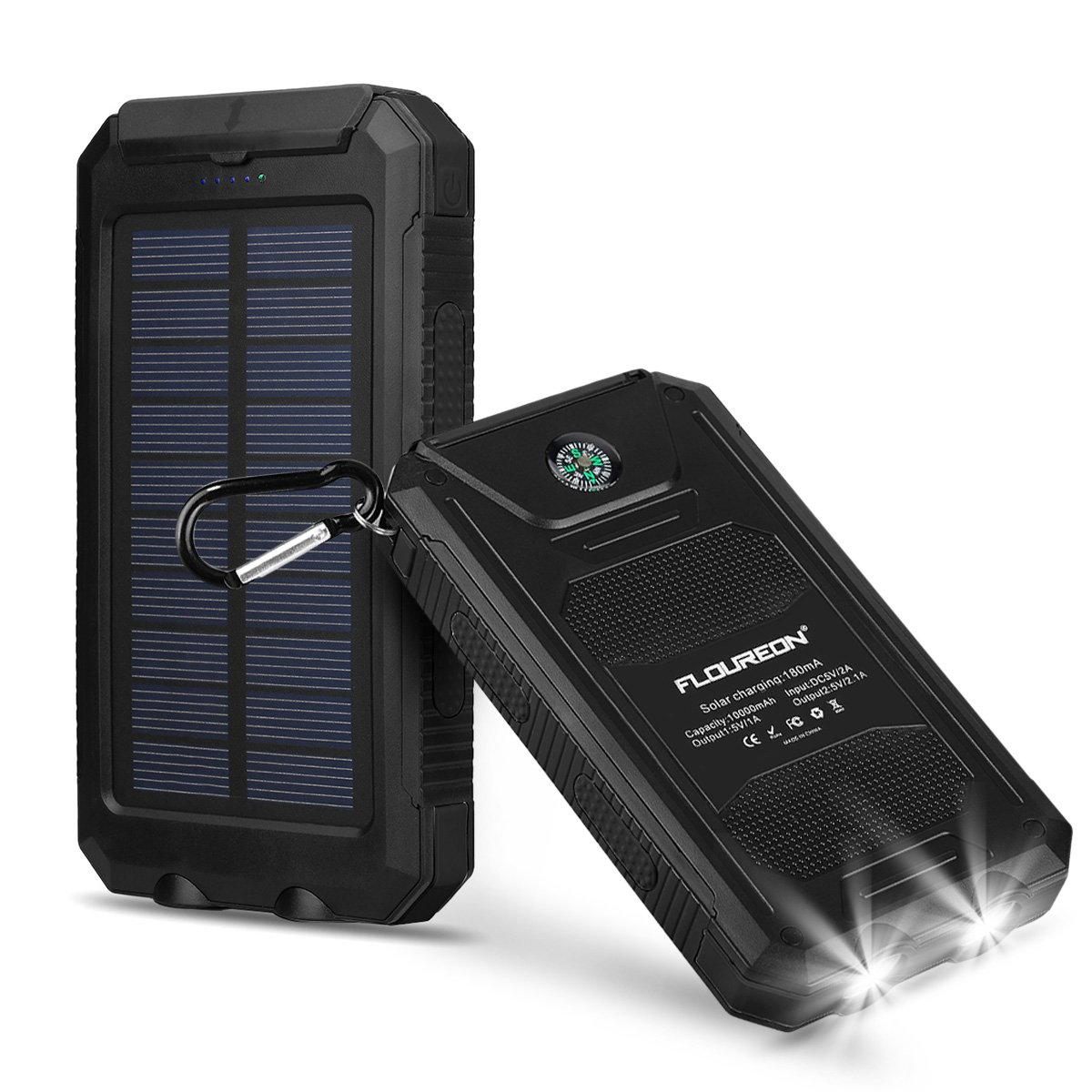 Floureon 10000mah Power Bank With Solar Charging Notes This Is A Simple Charger Circuit That Uses Auxiliary Functionportable Mobile Phone Dual 21a Usb Output External Battery