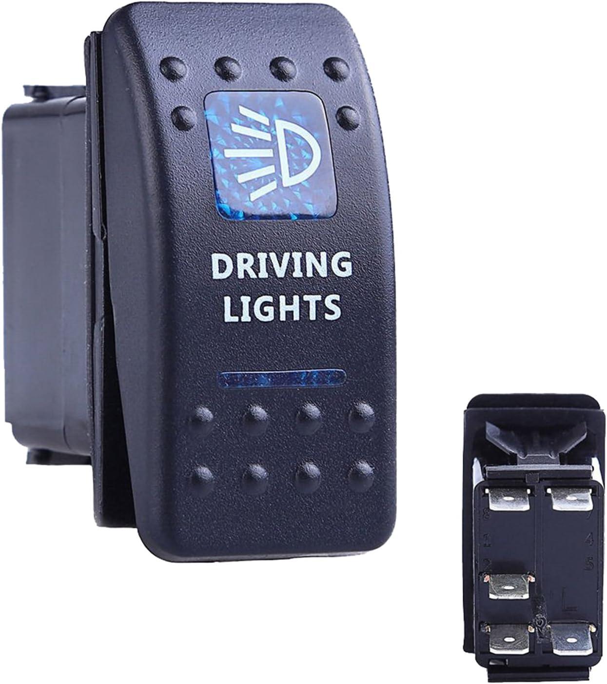 Oshide Auto Kfz Boot Blaue Led Beleuchtet Licht Wippschalter Ein Aus Schalter 12 24v Wasserdicht Driving Light Auto