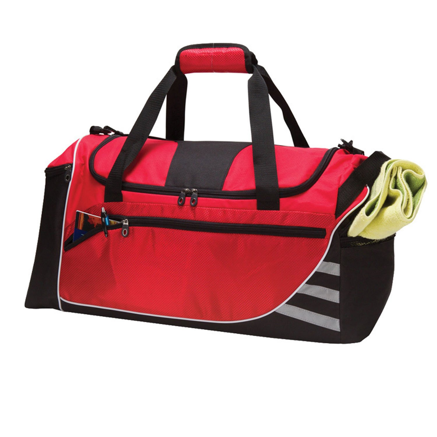 24-inch Nylon Polyester Signature Pattern Red Lightweight Crossfit Gym Bag