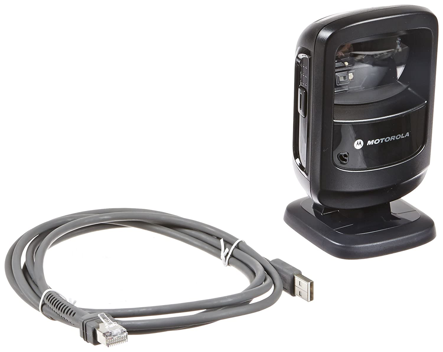 Symbol DS9208 Corded Omnidirectional LED Desktop Barcode Reader with USB Host Interface and 7' Cable, 5V DC, Black by Motorola   B00EUN1LTW