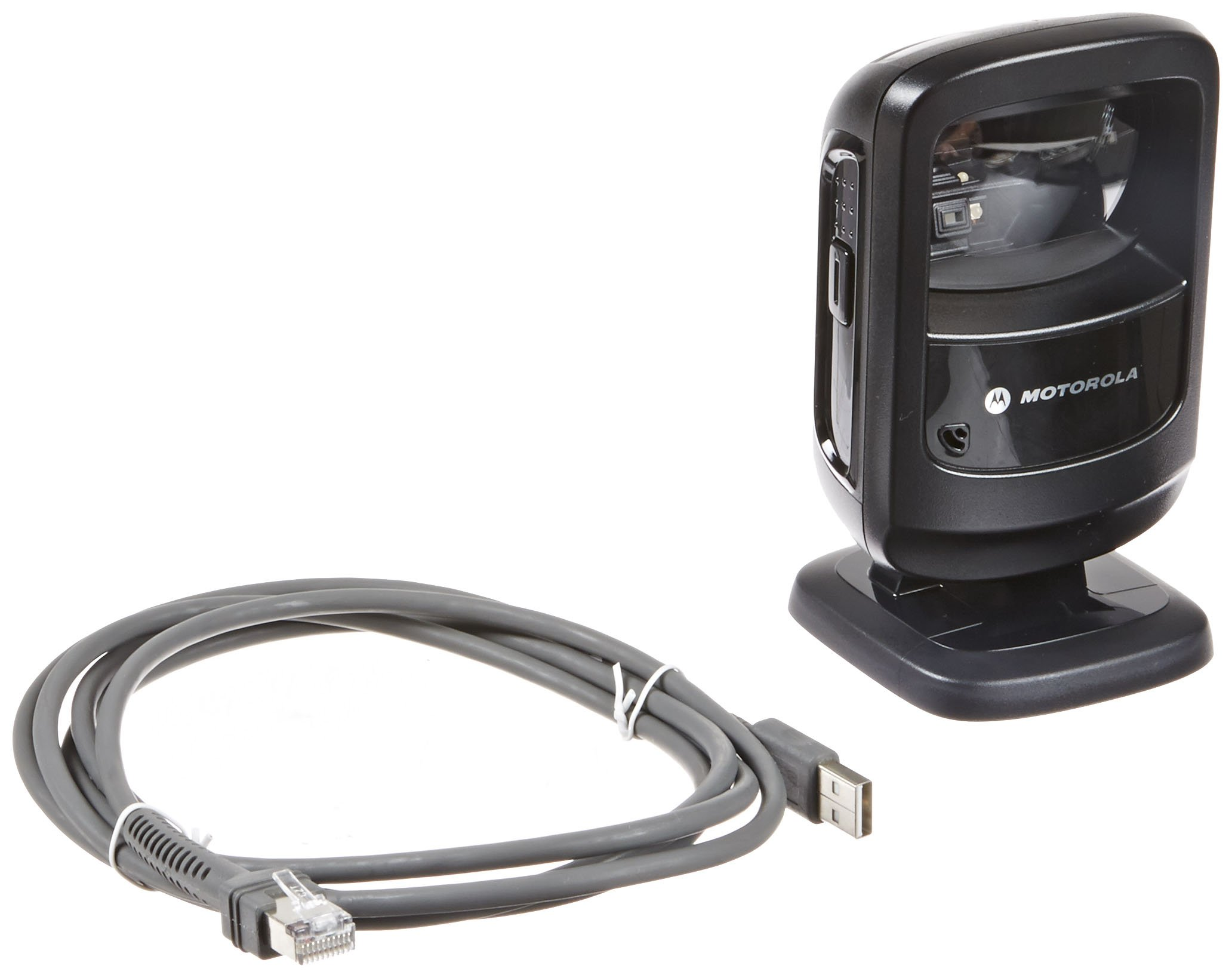 Symbol DS9208 Corded Omnidirectional LED Desktop Barcode Reader with USB Host Interface and 7' Cable, 5V DC, Black