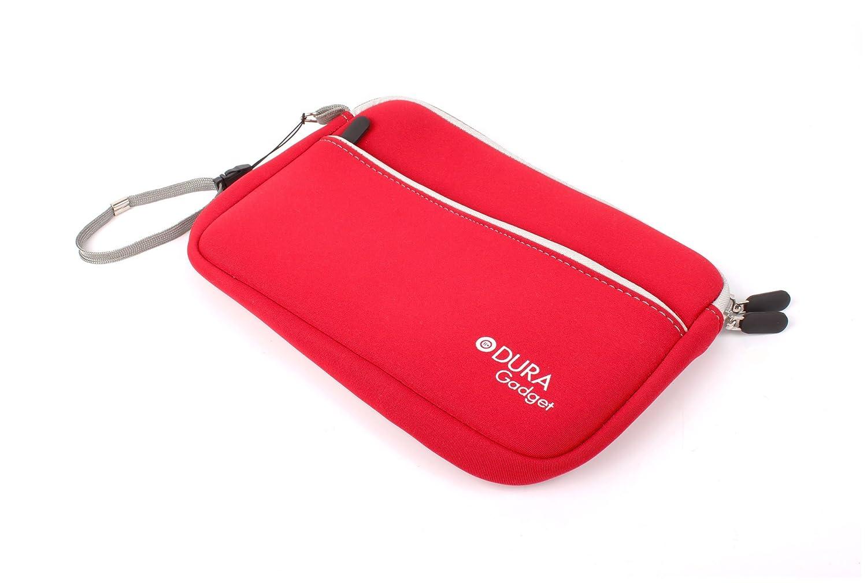 DURAGADGET Estuche De Neopreno Rojo para Guardar Sus Accesorios Médicos (Estetoscopio/Tensiómetro)   Resistente Al Agua: Amazon.es: Electrónica