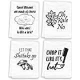White The Badass Woman in Me Honors the Badass Woman in You Funny Kitchen Towel Flour Sack Dish Towel Sweet Housewarming Gift