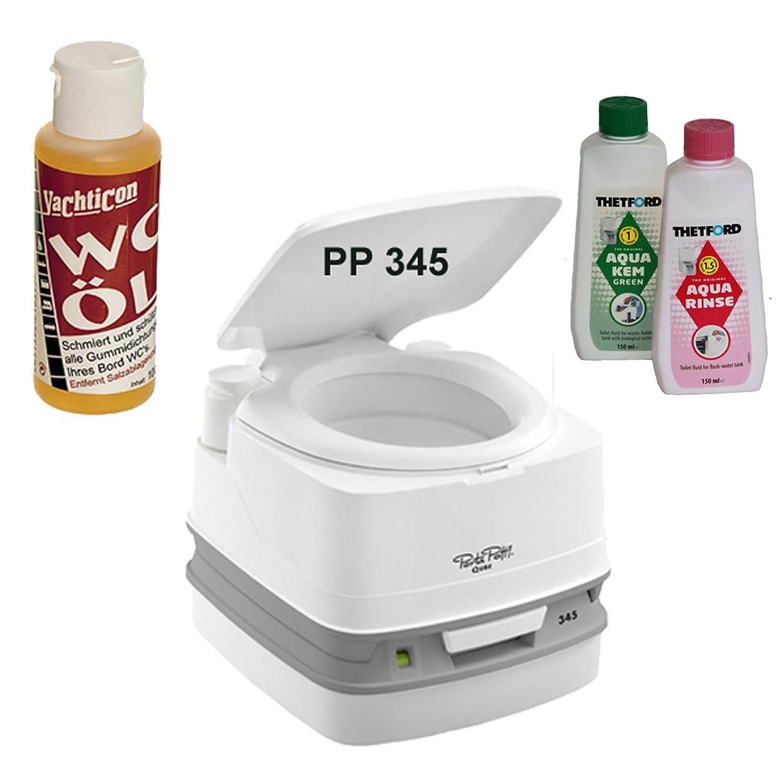 Thetford Tragbare Frischwassertoilette Porta Potti PP 345 von Stiefelshop in Bad Ischl incl. Yachticon WC Öl