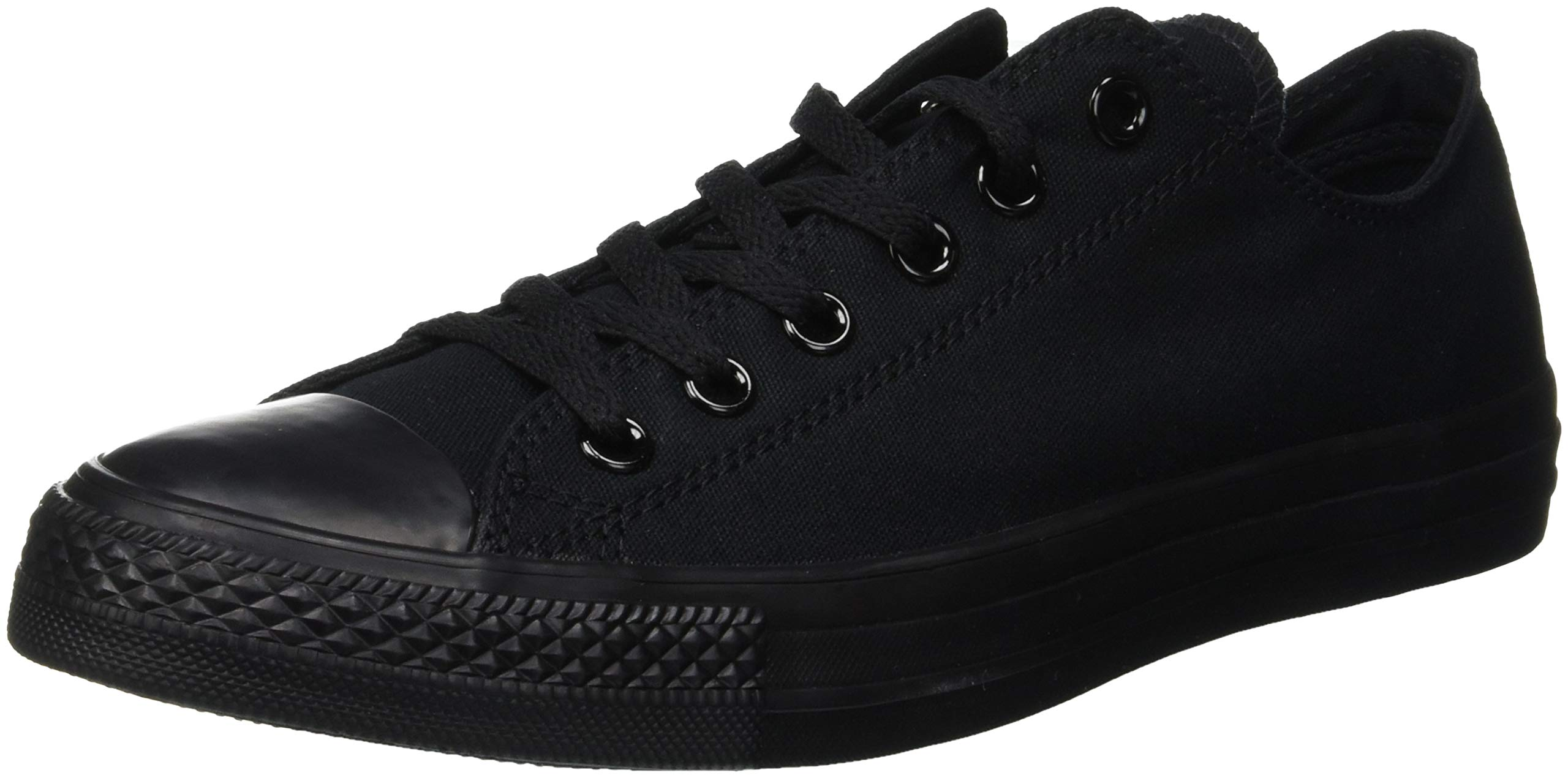 Converse Womens All Star Ox Low Chuck Taylor Chucks Sneaker Trainer - Black Mono - 5.5