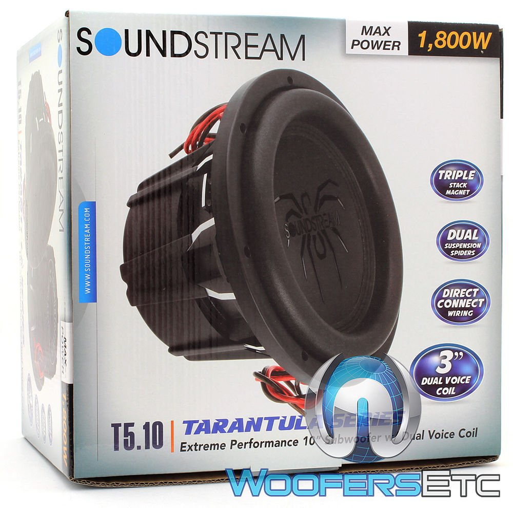 Soundstream T5102 10 900 Watts Rms Dual 2 Ohm T5 How To Wire Voice Coil Sub Series Subwoofer Car Electronics