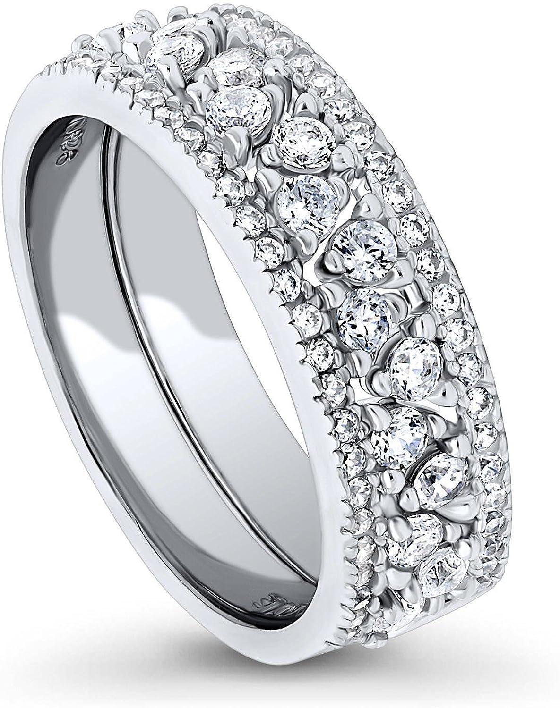 Amazon.com: BERRICLE - Juego de anillos de plata de ley ...