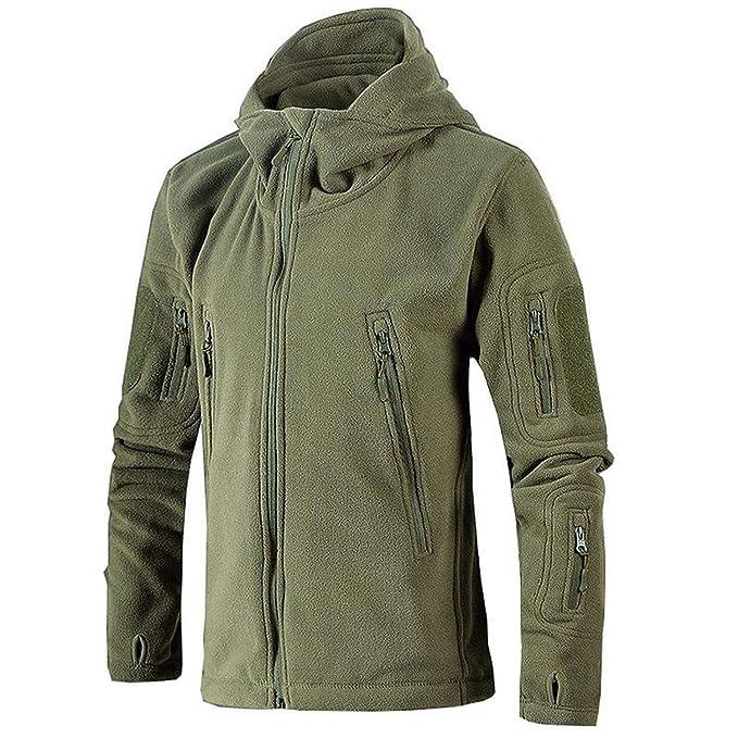 Amazon.com: Chaqueta táctica militar para hombre, chaqueta ...