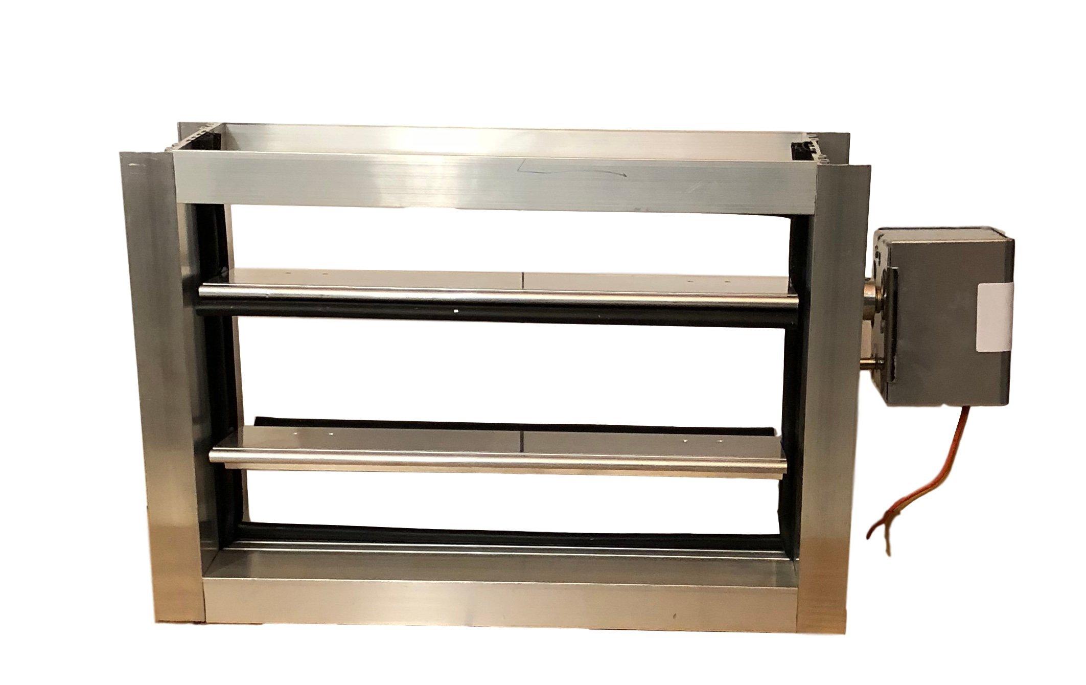 Escpec 12x8 Aluminum Motorized Damper/24 Vac, Normally Open (Power close/Spring open)