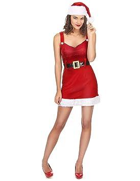 Disfraz Mama Noel sexy con cinturón - Única: Amazon.es ...