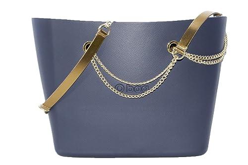 OBAG Bolsa O Bag Urban Color Azul Marino con bolsa Interior, Mango Largo de cadena Bronce: Amazon.es: Zapatos y complementos