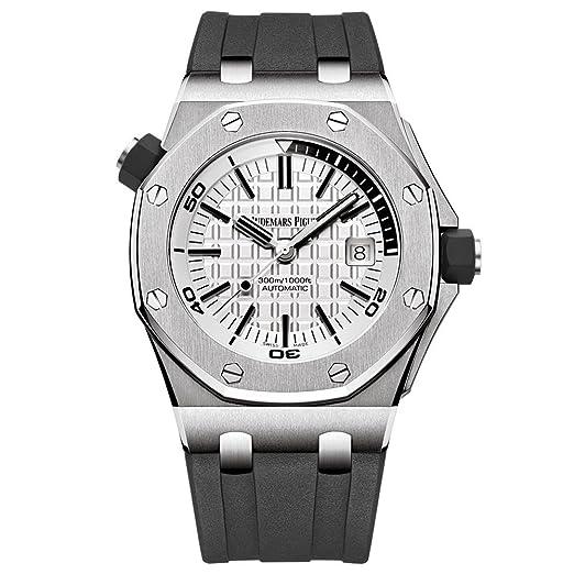 AP Audemars Piguet Royal Roble Offshore Diver reloj de acero inoxidable esfera blanca 15710st. OO. A002CA. 02: Audemars Piguet: Amazon.es: Relojes