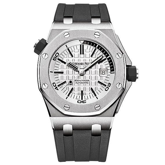 AP Audemars Piguet Royal Roble Offshore Diver reloj de acero inoxidable esfera blanca 15710st. OO