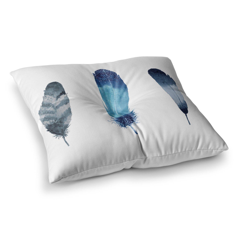 Kess InHouse Agnes Schugardt Kimono Floral Pattern 23 x 23 Square Floor Pillow