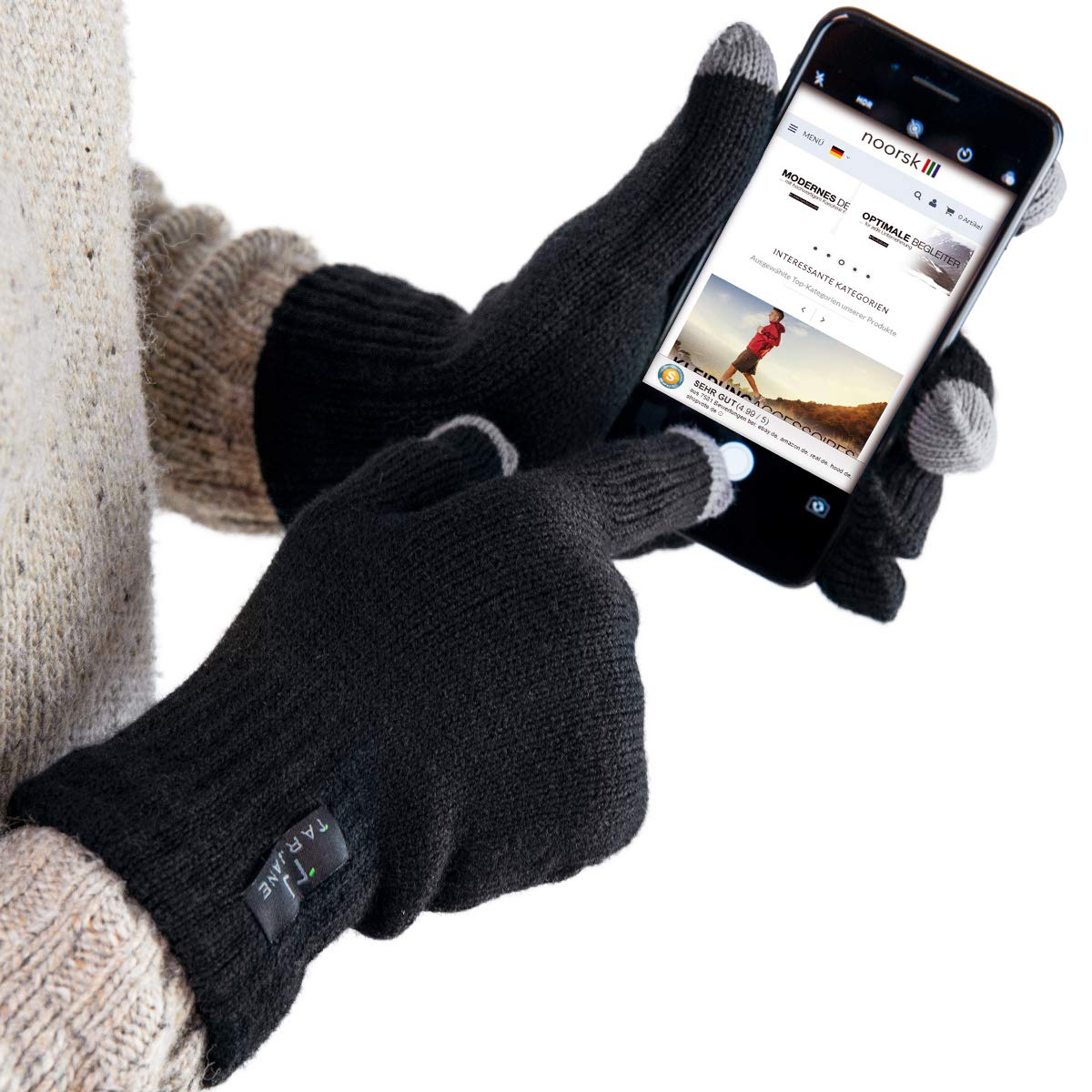 fae4f0db6f3e2e Thermo Handschuhe mit Touchscreen Funktion Screen Gloves extra warm TOG  1.9: Amazon.de: Sport & Freizeit